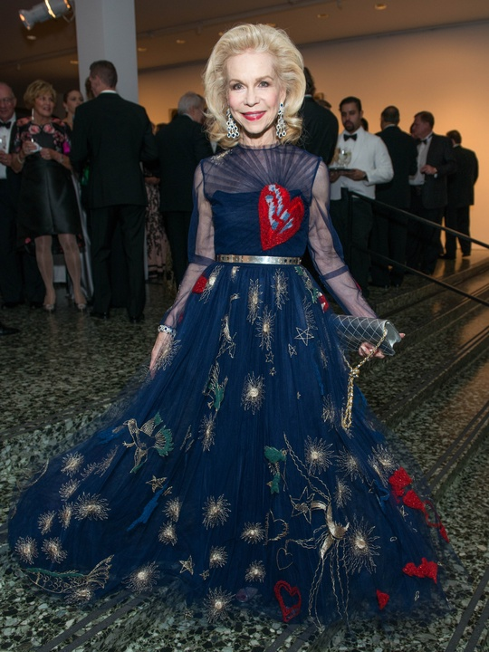 33 Lynn Wyatt wearing Valentino at the MFAH Grand Gala October 2014 GOWNS