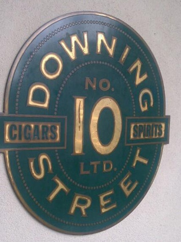 Downing Street Pub & Cigar Bar sign