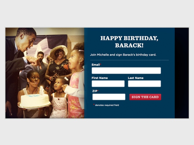 Barack Obama tries to invoke Norman Rockwell visions with his – Barack Obama Birthday Card
