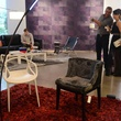 homeIDENTITY pop-up party June 2014 Kartell upholstered chair