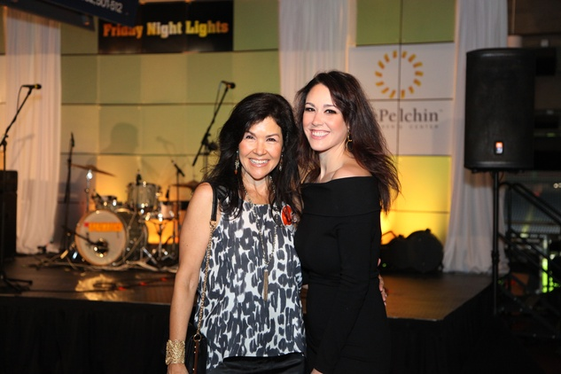Geraldina Wise, left, and Gabriella Wise at the Friday Night Lights Depelchin benefit November 2014