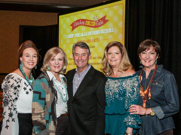 223 Julie Brown, from left, Pat Sorrells, Mark Ellis, Lisa O'Leary and Liz Rigney at Camp for All Gala March 2014