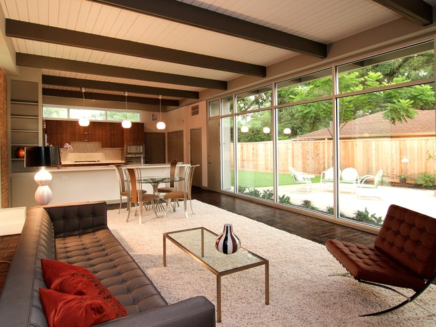 Mid century modern home houston