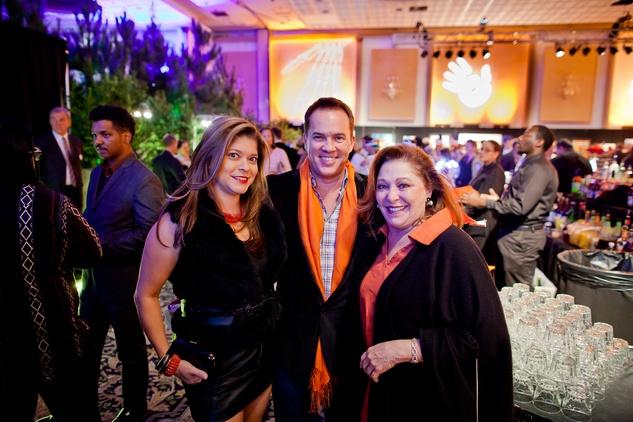 12 Marcy De Luna, from left, Rob Rutherford and Suzy Simons at the Orange Show Gala November 2014