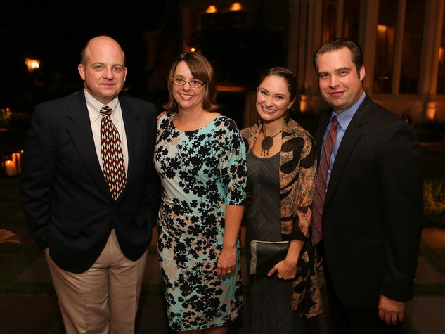Alley Theatre Artists Dinner September 2013 Jeffrey Bean and Christa Bean, Emily Neves, Andrew Love