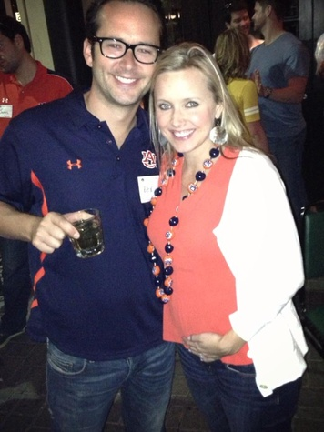 Auburn fans Rex and Paige Moore at watch party Nov 2013