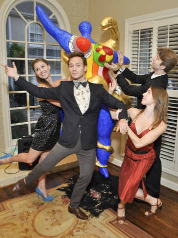010, Houston Ballet Ball kickoff party, October 2012, Aria Alekzander, Oliver Halkowich, Jessica Collado, Linnar Looris