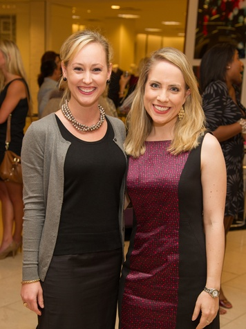 Katie Chachere, left, and Kristin Kruse at the Alley Young Professionals event October 2013