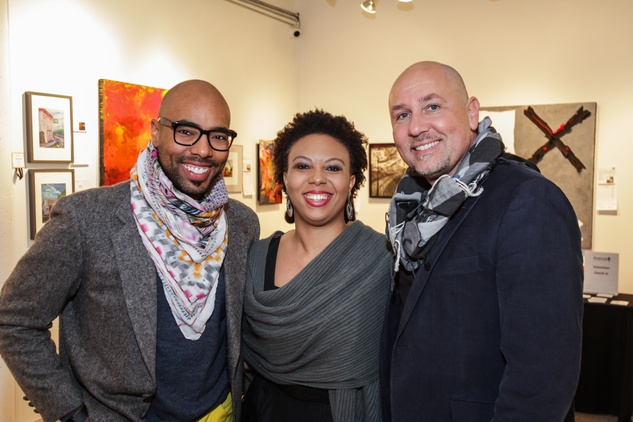 1 Aaron Courtland, from left, Deangela Hayes and Nicola Parente at the Art on the Avenue benefit November 2014