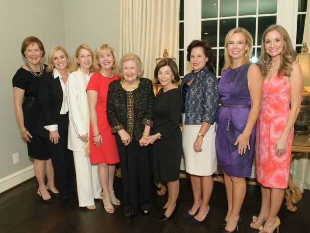Margo Goodwin, Susan McSherry, Debbie Oates, Christie Carter, Lindalyn Adams, Barbara Stuart, Lisa Longino, Daffan Nettle and Maggie Kipp, Celebrating Women