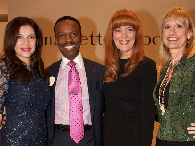 1 Alex and Astley Blair, from left, Gracie Cavnar, Karen Garcia at Dress for Dinner March 2014
