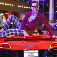 Cerón at the Audi Central Houston grand opening March 2014