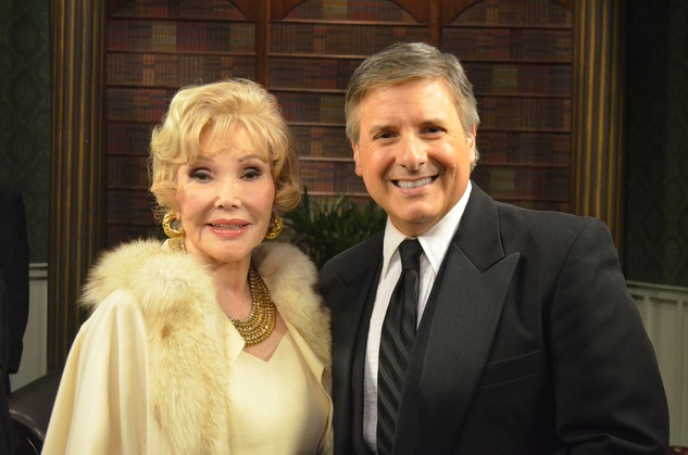 Ernie Manouse and Joanne Herring at taping of Manor of Speaking after Downton Abbey