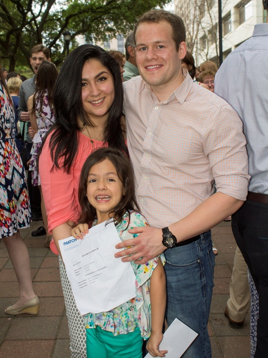 Cameron McBride with his family at Match Day UT Medical School