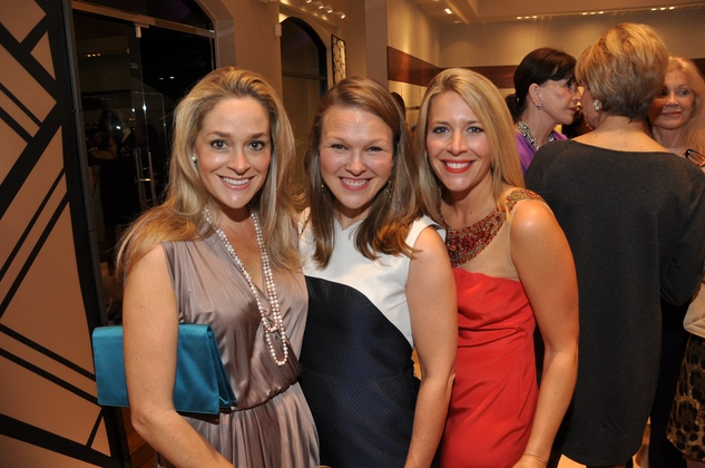 Molly Ferguson, from left, Marit Babin and Elin Jackson at the Elizabeth Anthony expansion party October 2014