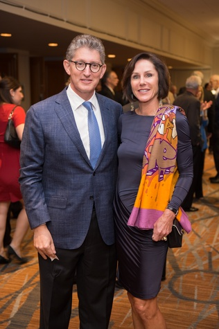 23 David and Heidi Gerger at the Guardian of the Human Spirit luncheon November 2014