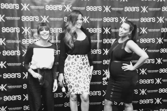 Khloe, Kourtney and Kim Kardashian at Sears Willowbrook Mall in Houston May 2013