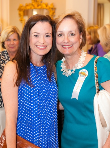Emily Perry, left, and Pam Brasseux at the DePelchin Children's Center luncheon April 2014