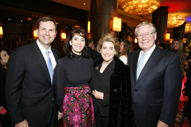 19 Newt and Shelley Barineau, from left, and Mary and Jim Chandler at An Evening with a Legend February 2015