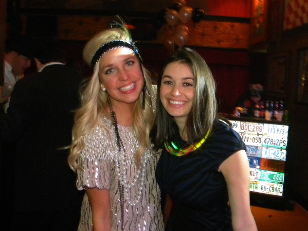 Helen McLaughlin, left, and Megan Kaldis at the TIRR party January 2015