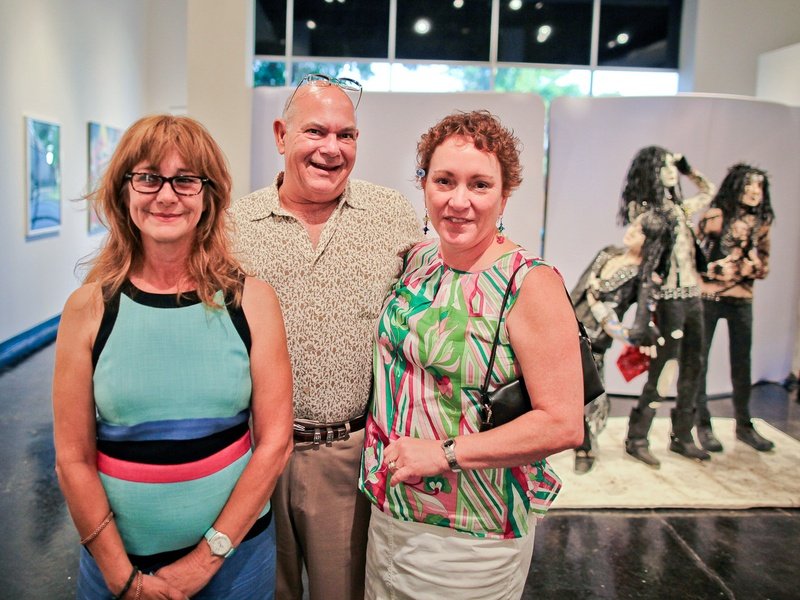 Lawndale Art Center The Big Show VIP reception July 2013 Lynette Henry, Bob Lordi and Julie Farr