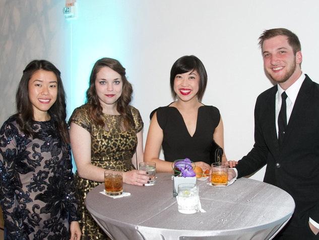 Blanton Art Museum Art on the Edge After Party 2015 Winnie Lam Hannah Colwell Connie Lam Stuart Lovinggood