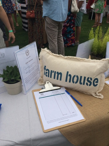 Silent auction at the Yellowstone Academy polo party April 2014