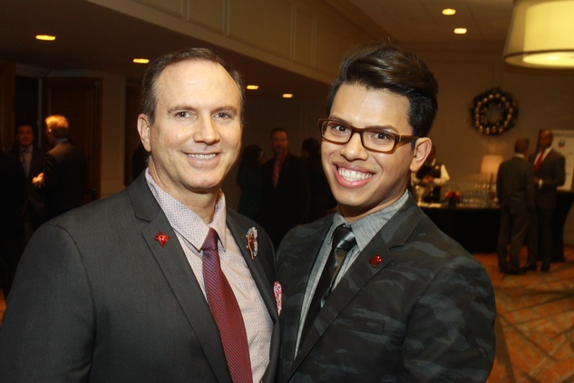 103 Richard Ray, left, and Anthony Dowd at the World AIDS Day luncheon.