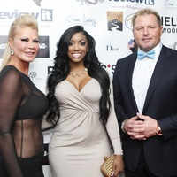 Theresa Roemer, from left, Porsha Williams and Roger Clemens at Fashion Woodlands with Theresa Roemer March 2015