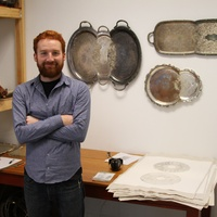 Jaydan Moore in his Houston Center for Contemporary Craft studio