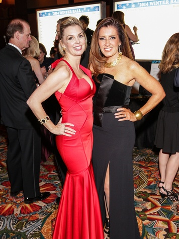 Katina Kearns, left, and Caroline Kenney at the Winter Ball January 2014