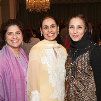 Shaista Bashir, from left, Tehmina Masud and Monira Kundi at the Interfaith Ministries luncheon January 2014