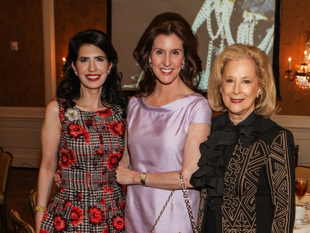Dr. Kelli Cohen Fein, from left, Phoebe Tudor and Mary Ann McKeithan at the Passion for Fashion luncheon March 2014