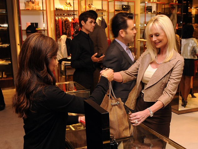 Jo Lynn Falgout shops at the Alley Theatre event at the Gucci Houston store