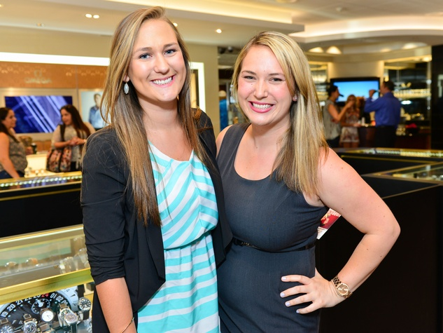 10 Natalie Berko, left, and Allie Trail at the Jake Worthington at IW Marks event June 2014