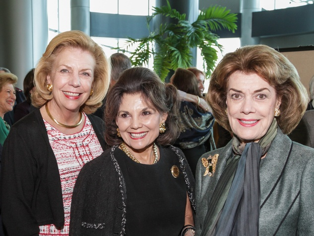 Elise Joesph, Linda McReynolds and Jeanie Kilroy-Wilson at the Salvation Army annual luncheon November 2014