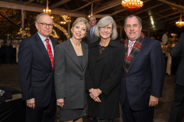 6971 John and Jano Kelly, from left, and Cathy and Dougal Cameron at the Heritage Society Gala December 2014