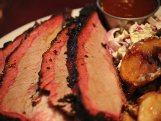 Sliced brisket at FM Smoke House in Irving