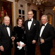Wally Wilson and Jeanie Kilroy Wilson, from left, Gary Tinterow and John Kotts at the Rienzi Society dinner January 2014