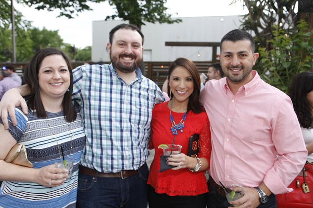 Sarah and Matt Fornea, from left, Rebecca Cantu and Talal Hariri at Friends of DePelchin's Fiesta May 2014