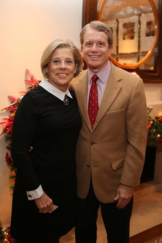 News, Shelby, Alley Theatre Holiday Party, December 2014, Jane Gladden, Dean Gladden