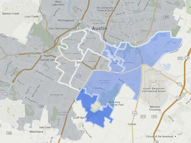 Google Fiber map Southeast Austin sign-up expansion July 2015