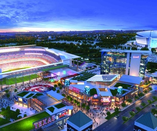Rendering of planned Texas Live development