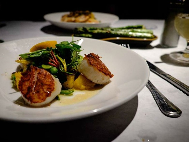 Scallops at Lark on the Park