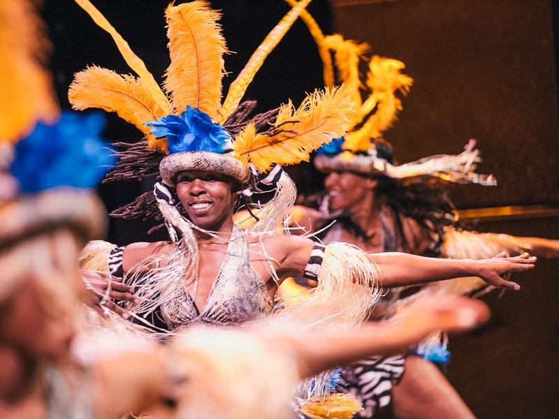 Brazilian Carnival Headdress Casa Samba dancers Photo by