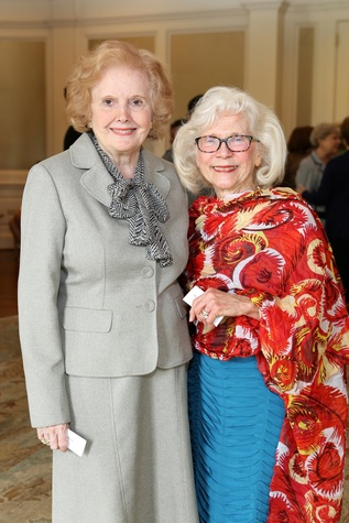 Alyce Morris, left, and Shirley Dannenbaum at the St. Luke's Friends of Nursing luncheon March 2015