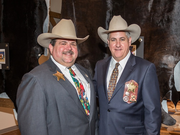 Mike Wells Jr., left, and Sam Ayers at the HLSR Hide Party January 2014
