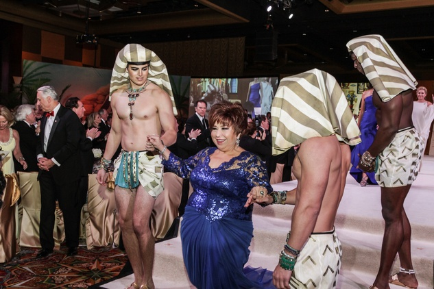 Trini Mendehall with Pharaoh Guards at the Winter Ball January 2015