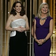 Tina Fey and Amy Poehler at the 2015 Golden Globe Awards