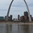 Ralph Bivins Astrodome April 2015 The Gateway Arch, built in 1965, sits on the banks of the Mississippi River in downtown St. Louis.